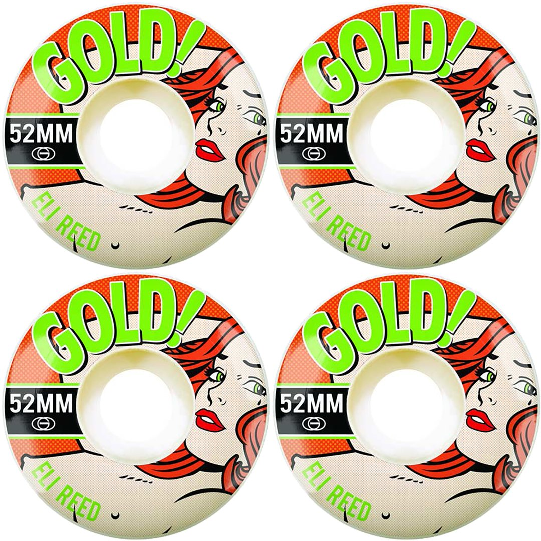 GOLD - POP BABE ELI REED WHEELS - 52MM