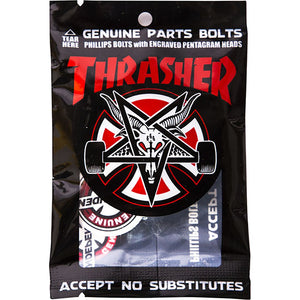 INDEPENDENT X THRASHER - 7/8 DECK BOLTS PHILLIPS BLACK/SILVER