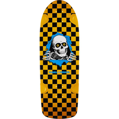 POWELL PERALTA - OG RIPPER CHECKER DECK - YELLOW - 10""