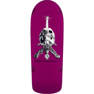 POWELL PERALTA - RAY RODRIGUEZ SKULL AND SWORD DECK - PURPLE - 10""