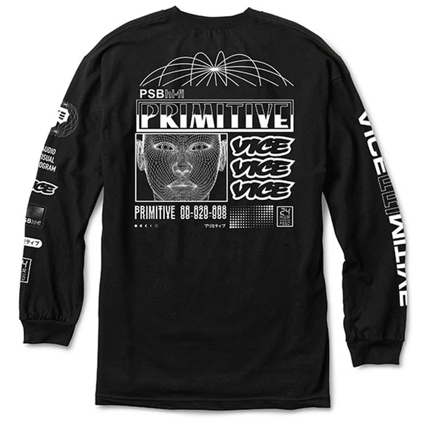 PRIMITIVE X VICE LONG SLEEVE TEE BLACK