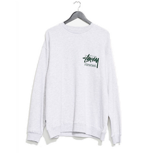 STUSSY INTERNATIONAL CREW NECK - SNOW MARLE