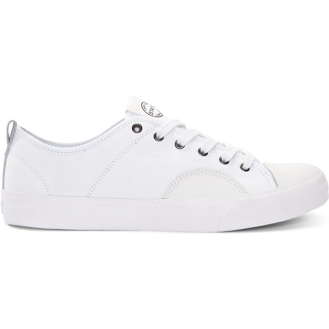 STATE - HARLEM - WHITE/WHITE CANVAS/SUEDE