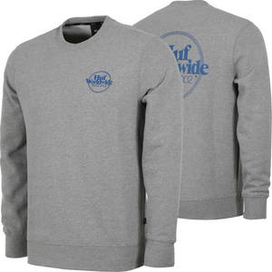 HUF ISSUE CREW NECK JUMPER GREY