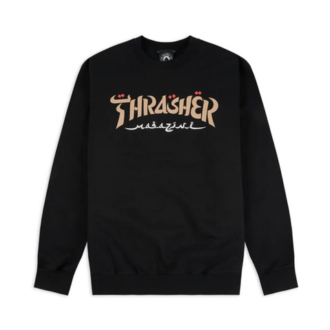 THRASHER - CALLIGRAPHY CREW - BLACK