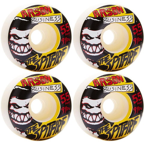 SPITFIRE ARSON BUSINESS WHEELS WHITE 99D 55MM