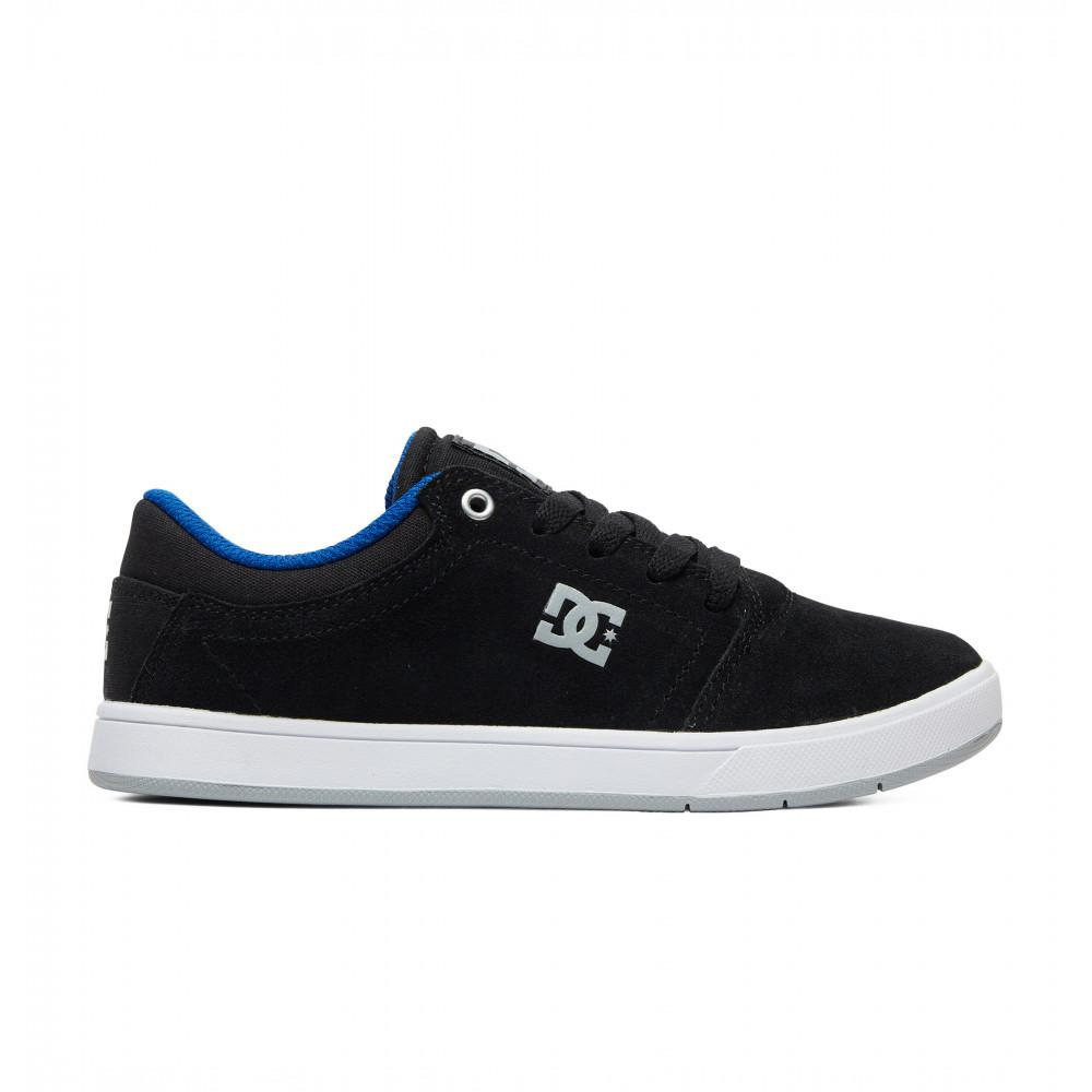 DC CRISIS YOUTH SHOE - BLACK/BLUE/WHITE