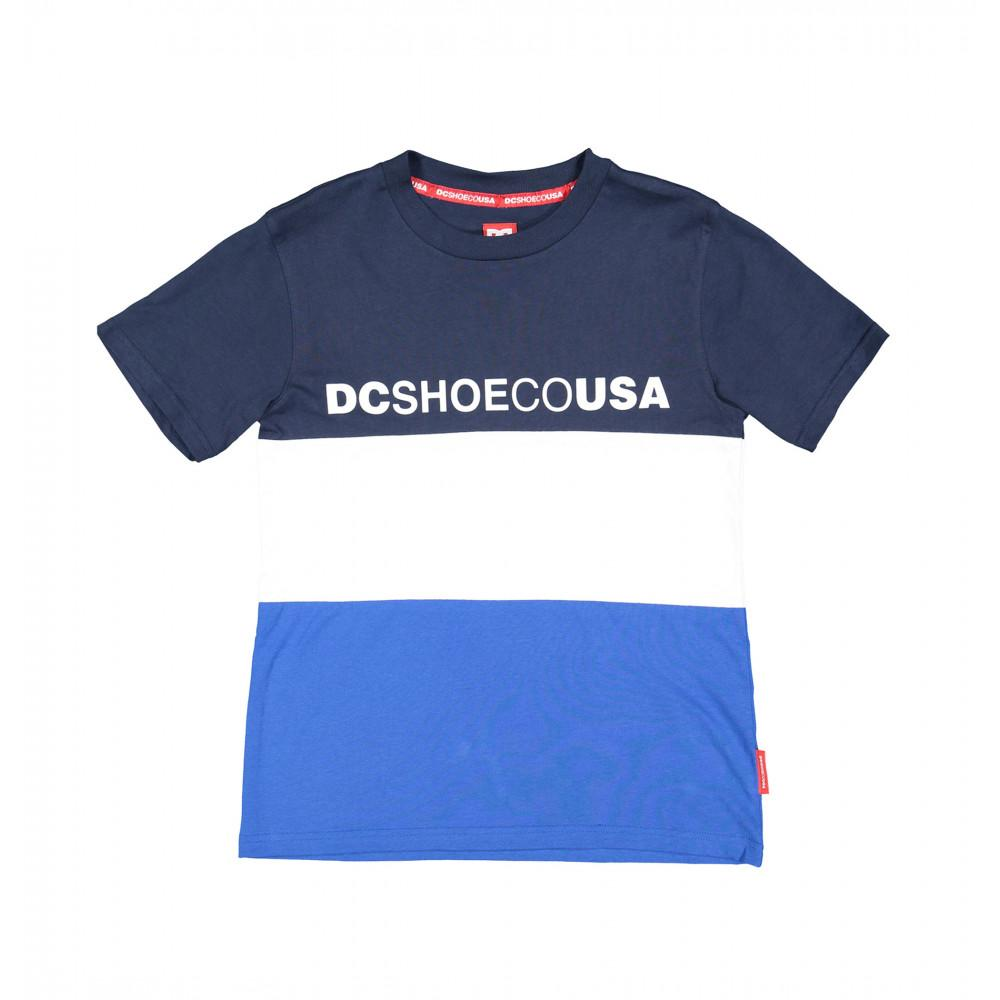 DC GLENFERRIE YOUTH TEE - NAVY/WHITE/BLUE