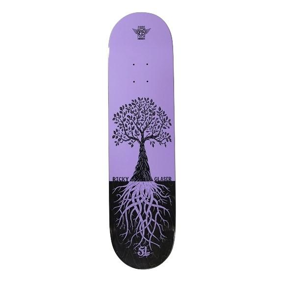 FOLKLORE RICKY GLASER PURPLE TREE FIBRETECH DECK - 8.25