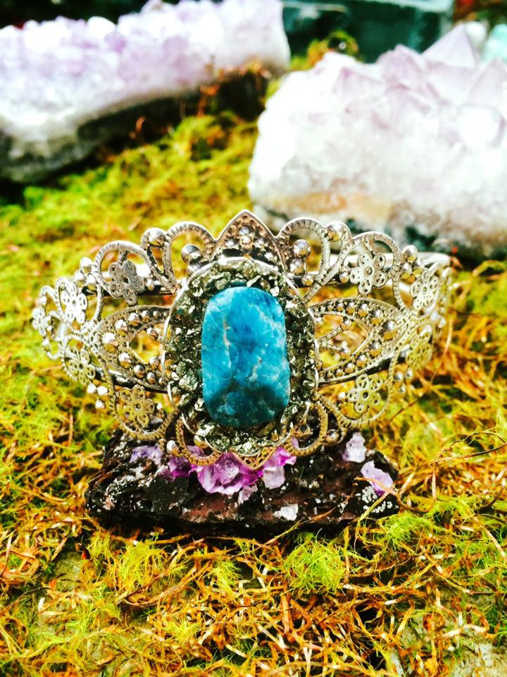 princess bracelet deep sea blue apatite (silver plated) - Edward & Ashley Jewelry