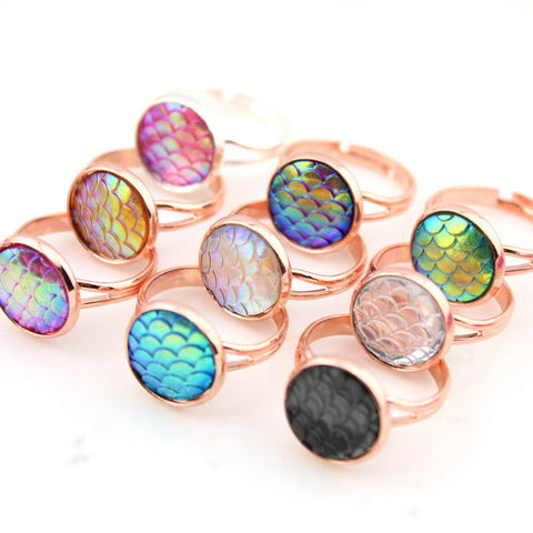 mermaid scale rings