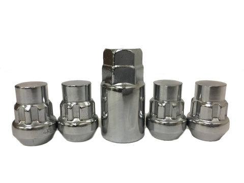 Locking Lug Nuts Wheel Locks | Closed End | Bulge Acorn 1/2x20 Thread - Set Group USA - 1
