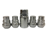Locking Lug Nuts Wheel Locks | Closed End | Bulge Acorn 9/16 Thread - Set Group USA - 1