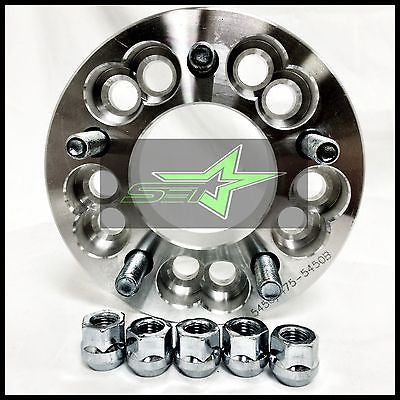"1 WHEEL ADAPTERS SPACERS 5X114.3 OR 5X120 TO 5X112 | 12X1.5 | 1.25"" INCH 