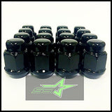 20 Black Lug Nuts 12X1.5 | Fits- Toyota, Lexus, Scion, Aftermarket Wheels Lugs - Set Group USA - 11