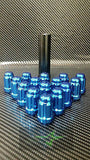 "23 Blue Jeep Lug Nuts 6 Spline Tuner | 1/2""-20 