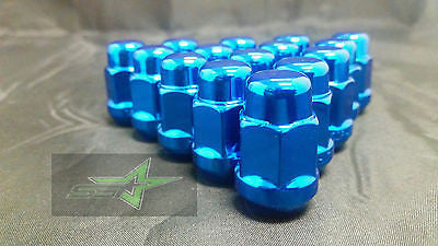 23 JEEP BLUE LUG NUTS | 1/2-20 | CLOSED END 5X5, 5X4.5, 5X5.5 BULGE ACORN LUGS - Set Group USA - 1