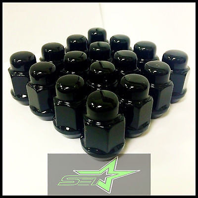 "24 Dodge Durango, Dakota Black Bulge Acorn Lug Nuts | 1/2""-20 