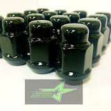10 Black Lug Nuts 14X1.5 | Dodge Magnum Charger | Chevy Camaro 08+ Cts Wheel Nut - Set Group USA - 11