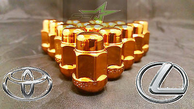 20 ORANGE LUG NUTS 12X1.5 | FITS- TOYOTA, LEXUS, SCION, AFTERMARKET WHEELS LUGS - Set Group USA - 1