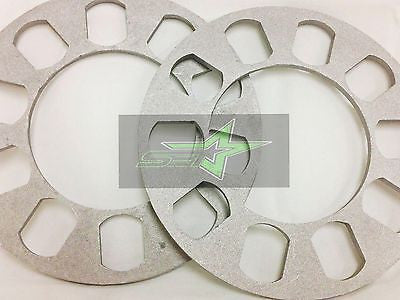 2X Wheel Spacers 5Mm Or 3/16 | Fits All 5X100 5X108 5X112 5X114.3 5X115 5X120 - Set Group USA