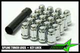 20 Spline Tuner Racing Lug Nuts +1 Key | 12X1.25 | Subaru Sti  Brz Wrx Scion Frs - Set Group USA - 1