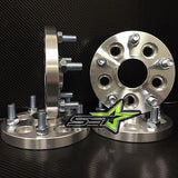 5X100 Wheel Spacers Kit Scion Fr-S, Subaru Brz Wrx, Hub Centric | 17Mm | 12X1.25 - Set Group USA - 2