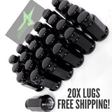"20 Black Lug Nuts | 14X1.5 | Acorn Bulge Tapered Seat | 3/4 Hex | 1.9"" Inch Tall - Set Group USA - 2"