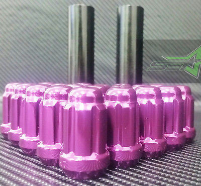 16 Purple Spline Tuner Racing Lug Nuts +2 Keys | 12X1.5| Fits Most Honda Acura | - Set Group USA - 1