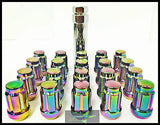 16 Neo Chrome Spline Tuner Racing Lug Nuts 12X1.5 | Fits Most Hyundai Kia 4 Lug - Set Group USA - 5