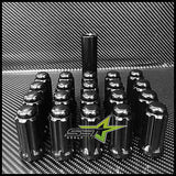 "32 BLACK SPLINE LUG NUTS | 9/16 | DODGE MOPAR 2"" TALL 