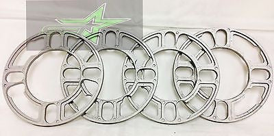 4 Wheel Spacers 5Mm 3/16 | Fits 4X100 4X108 4X114 4X120 5X108 5X112 5X114 5X120 - Set Group USA