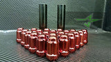 24 Red Spline Lug Nuts +2 Keys | 12X1.5 | Fits Toyota Fj Tacoma Tundra 4Runner - Set Group USA - 8