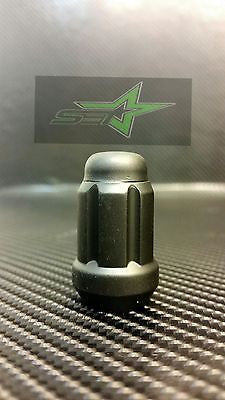 1Pc Matte Black Spline Tuner Racing Lug Nut | 12X1.5 | Fits Most Jdm Honda  | - Set Group USA