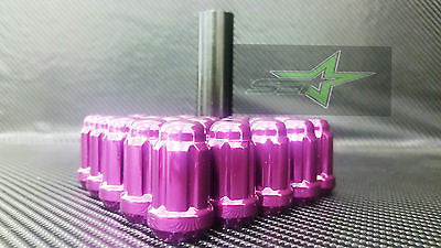 "20 Purple Mustang Lug Nuts | 6 Spline Tuner | 1/2""-20 