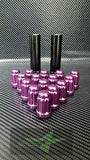 16 Purple Spline Tuner Racing Lug Nuts | 12X1.5 | Fits Most Jdm Honda Acura | - Set Group USA - 2