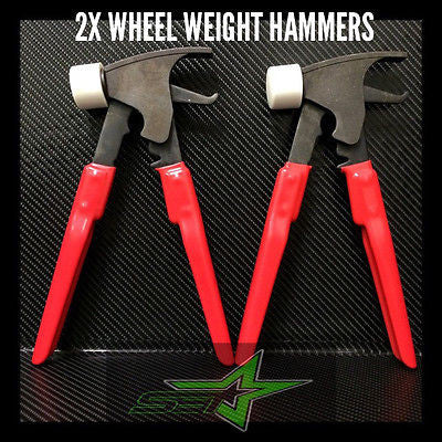 2 Forged Wheel Weight Hammer / Pliers Combo 4 Tire Balancer / Changer Usa Grade - Set Group USA