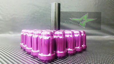 20 Purple Spline Tuner Racing Lug Nuts + 1 Key | 12X1.5 |Fits Honda Acura Toyota - Set Group USA - 1