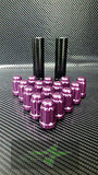 "24 Purple Spline Lug Nuts 1.38""Tall 