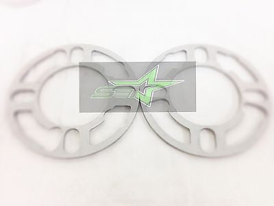 2X Wheel Spacers 5Mm 3/16 | Fits 4X100 4X108 4X114 4X120 5X108 5X112 5X114 5X120 - Set Group USA