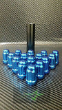 "23 Blue Jeep Lug Nuts | 6 Spline Tuner | 1/2""-20 