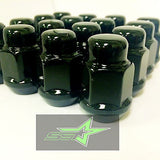 20 Black Lug Nuts 12X1.5 | Fits- Toyota, Lexus, Scion, Aftermarket Wheels Lugs - Set Group USA - 9