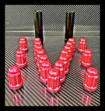 "20 Pink Mustang Lug Nuts | 6 Spline Tuner | 1/2""-20 