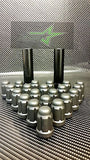 "20 Matte Black Mustang Lug Nuts | 6 Spline Tuner | 1/2""-20 
