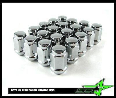 "24 DODGE DURANGO, DAKOTA CHROME BULGE ACORN LUG NUTS | 1/2""-20 