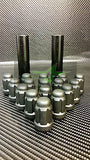 "20 Matte Black Mustang Lug Nuts | Racing 6 Spline Lugs | 1/2""-20 