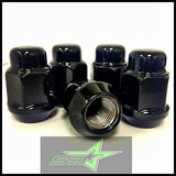 10 Black Lug Nuts 14X1.5 | Dodge Magnum Charger | Chevy Camaro 08+ Cts Wheel Nut - Set Group USA - 5