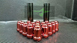 24 Red 6 Spline Lug Nuts + Key | 12X1.5 | Fits Toyota Fj Tacoma Tundra 4Runner - Set Group USA - 2