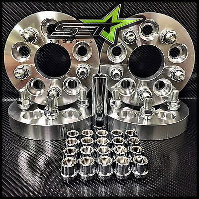 5X100 TO 5X114.3 CONVERSION KIT FR-S BRZ WRX 25MM | +20 OPEN END SPLINE LUG NUTS - Set Group USA