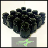 20 Black Lug Nuts 12X1.5 | Fits- Toyota, Lexus, Scion, Aftermarket Wheels Lugs - Set Group USA - 1